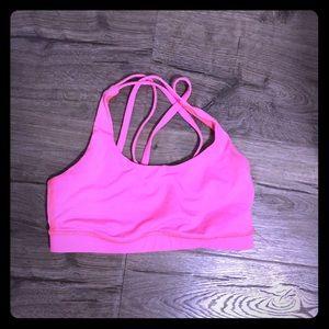Pink Lululemon Energy Bra